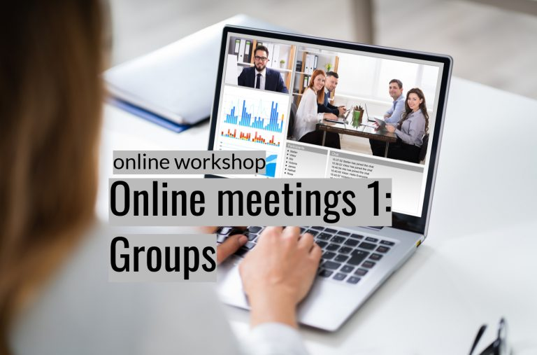 Effective online meetings 1: Groups